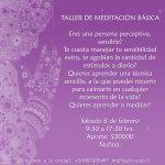 TALLER DE MEDITACIÓN BÁSICA