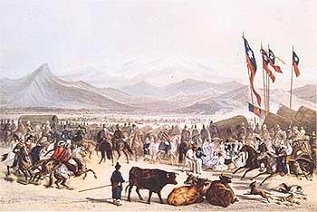 Resultado de imagen para Una carrera en las lomas de Santiago, siglo XIX